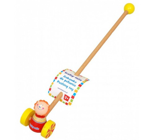 """baby mix hj-d931163 c Игрушка-каталка деревянная """"Львёнок"""""""
