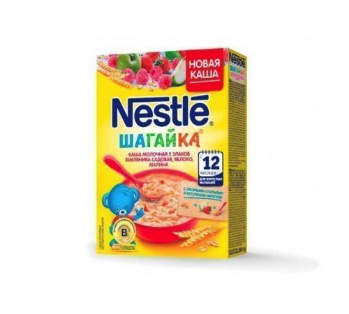 Детское питание в Молдове nestle молочная ШАГ 5 злаков земляника-малина-яблоко 9*220 гр