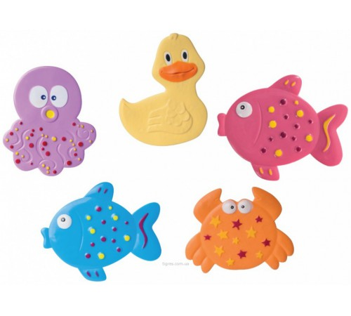 """canpol 80/003 Мини коврики для ванной """"Цветной океан"""" 5 шт."""