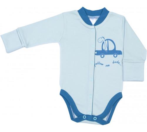 """Одежда для малышей в Молдове veres 102.93.56 Боди """"follow me"""" (интерлок) р.56"""