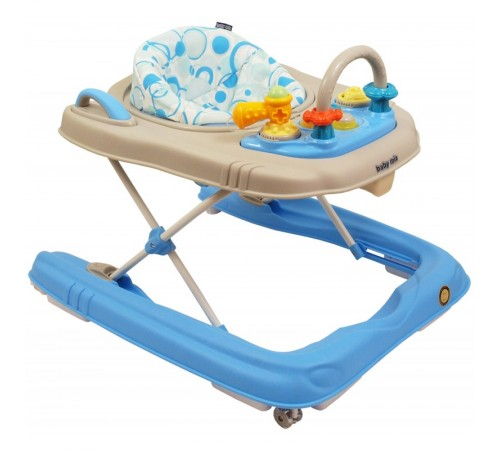 baby mix bg-0416 Ходунки 2-в-1 синий/серый