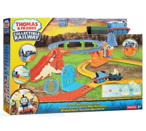 "thomas and friends cdv09 set de joc  ""transportul dinozaurului"""