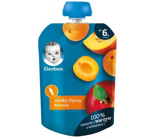 Детское питание в Молдове gerber Пюре «Яблоко-тыква-абрикос» (6 м+) 90 гр.