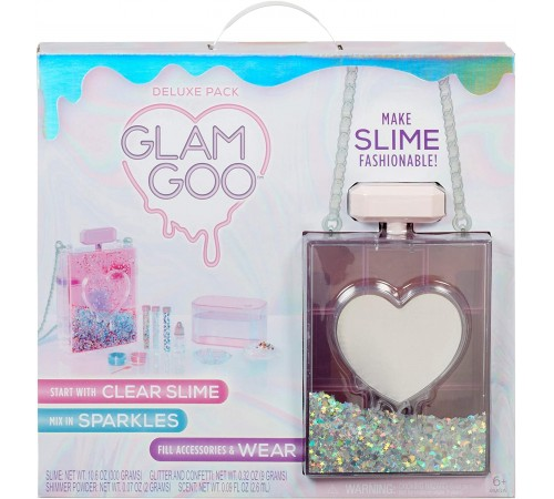 "glam goo 560404 set creație slime ""deluxe pack"" cu accesorii"