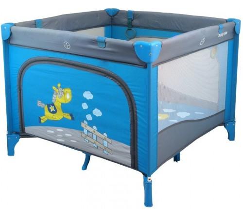 baby mix hr-sq100 Манеж детский голубой