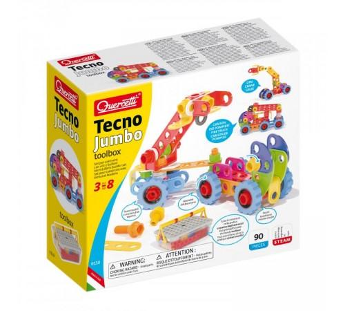 "quercetti 6150 Конструктор ""techno jumbotoolbox"" (90 дет.)"