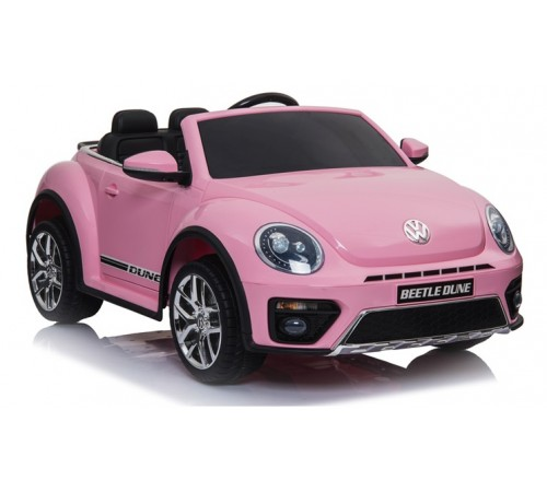 chipolino mașină cu baterie elkvwbd03pi vw beetle dune roz