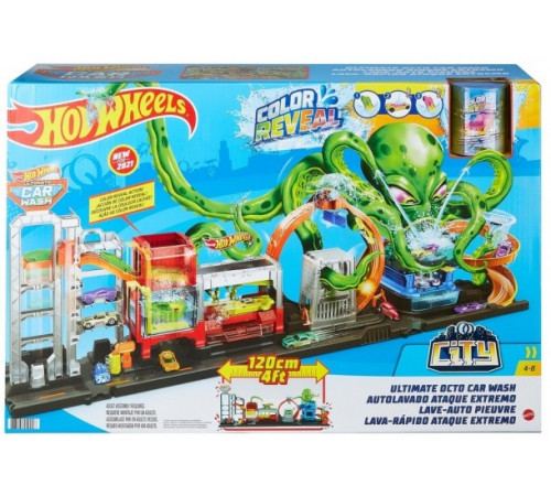 """hot wheels gtt96 set de joc """"spălătorie auto: explozie de flori"""" seria """"transformarea culorii"""""""