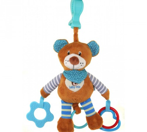 """Детскиймагазин гусь-гусь в Кишиневе в Молдове baby mix stk-16300b Игрушка для путешествия """"Мишка"""" голубой"""