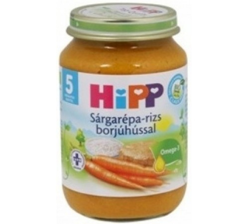 Детское питание в Молдове hipp 6143 Ризотто с телятиной (4м+) 190 гр.