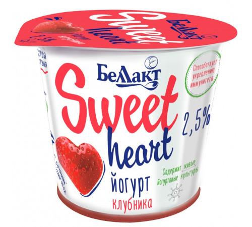 """Беллакт iaurt cu două straturi """"sweet heart"""" căpșuni 2,5% (150 gr.)"""