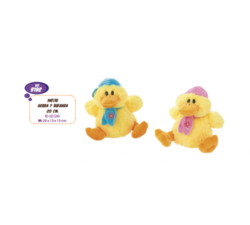 artesania beatriz 9192 Мягкая игрушка Утенок с шарфом 20 см