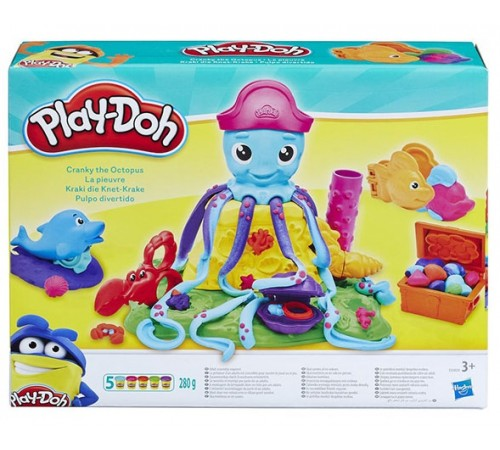 """Детскиймагазин в Кишиневе в Молдове play-doh  e0800 Игровой набор """"Веселый Осьминог"""""""