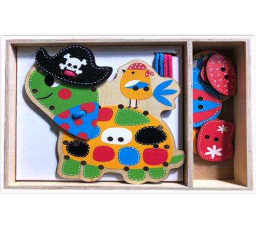"""Jucării pentru Copii - Magazin Online de Jucării ieftine in Chisinau Baby-Boom in Moldova baby mix wts-17-h1233 puzzle din lemn """"broasca testoasa"""""""