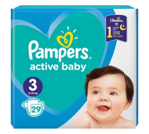 pampers active baby 3 (6-10 кг.) 29 шт.
