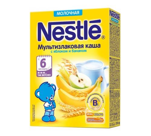 Детское питание в Молдове Каша молочная nestle мультизлаковая с яблоком и бананом 6 мес. 220 г