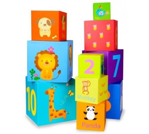 """Jucării pentru Copii - Magazin Online de Jucării ieftine in Chisinau Baby-Boom in Moldova classic world 3567 cuburi de lemn-piramida """"animale"""""""