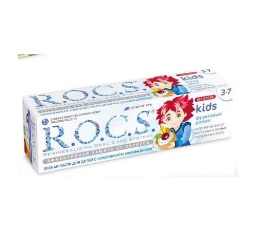 """r.o.c.s. pasta de dinți pentru copii """"inghețată de fructe"""" (3-7) 470715"""