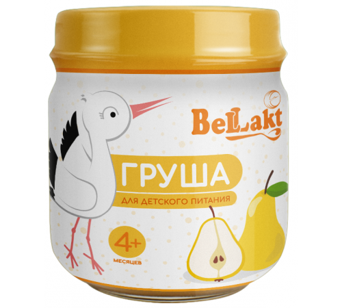 Беллакт Пюре из груш (4 м+)  80 гр.
