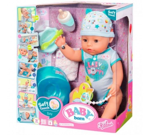 """Детскиймагазин в Кишиневе в Молдове zapf creation 824375 Интерактивная кукла baby born """"Очаровательный малыш"""" с аксессуарами"""