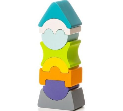"""cubika12701 Гибкая деревянная пирамидка """"Башня"""""""