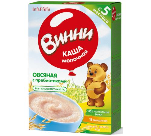 Детское питание в Молдове Винни Каша молочная Овсяная c пребиотиками (5 m+) 200 гр.