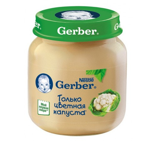 Детское питание в Молдове gerber Пюре из цветной капусты 130gr.(5+)