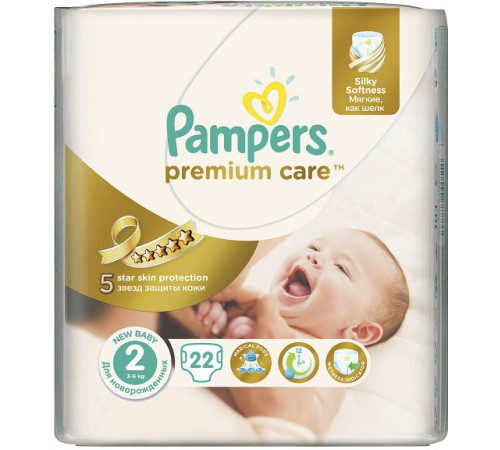 pampers premium care mini 2 (3-6 кг.) 22 шт.