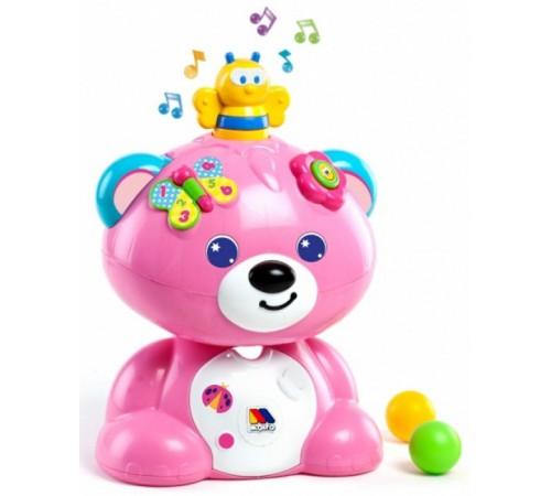 """molto 13502 Музыкальная игрушка """"Мишка """" розовый"""