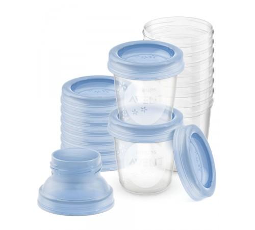 avent scf618/10 containere pentru stocarea laptelui (10х180 ml)