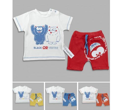 Одежда для малышей в Молдове twetoon 116162 Костюм 2 единицы (9-12-18-24 мес.) в асс.