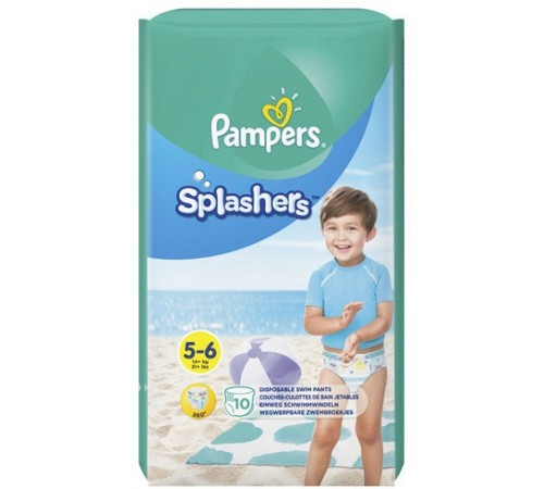 pampers splashers  5-6 (14+ кг.) 10 шт.