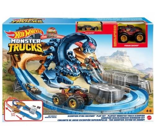 "hot wheels gnb05 set de joc ""scorpion sting"" seria ""monster trucks"""