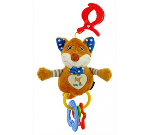 "baby mix stk-17745b jucărie pentru călătorie ""vulpe"" albastra"