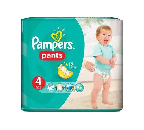 pampers pants 4 (9-14 kg.) 24 buc.