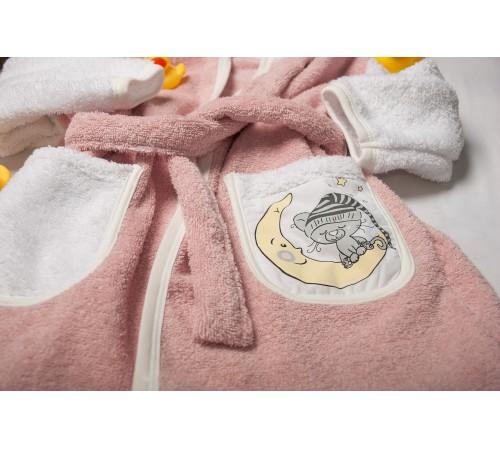 dormi baby Детский халат в асс. (серый/розовый/белый)