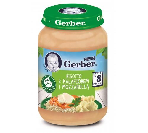 "gerber piure ""risotto-mozarella-conopidă"" (8m +) 190 gr."