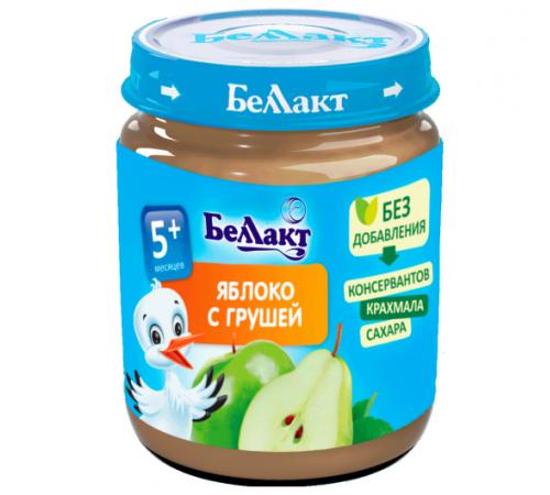 Детское питание в Молдове Беллакт Пюре из яблок и груш 100 гр. (5 м. +)