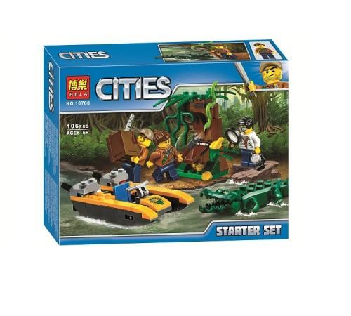 """bela РД02.150 Конструктор """"cities"""" Начинающий набор Джунгли (106 дет.)"""