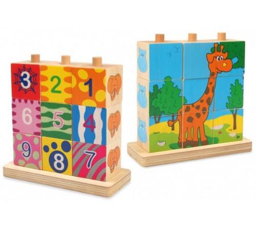 """Игрушки в Молдове baby mix  tp-52043 Паззлы деревянные """"Жираф"""""""
