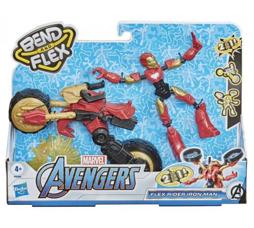 """avengers f0244 Игровой набор """"Мстители Бенди: Железный человек на мотоцикле"""""""