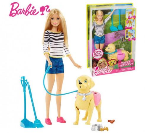 """dwj68 Набор с куклой barbie """"Уход за любимцем"""""""