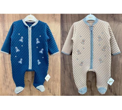 Одежда для малышей в Молдове flexi 213774 Комбинезон стеганный для мальчика (р.56-62-68) в асс.
