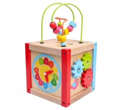 """Детскиймагазин в Кишиневе в Молдове baby mix tp-52712 Деревянная развивающая игрушка """"Куб"""""""