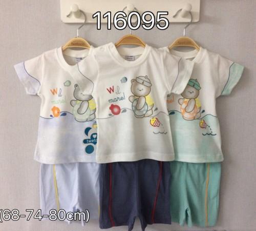 Imbracaminte pentru bebelușii in Moldova twetoon baby 116095 set de vara (tricou și pantaloni scurți)