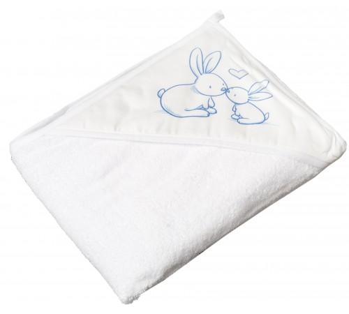 """tega baby prosop cu glugă  """"bunny"""" kr-008-103  (100х100 cm.) alb"""