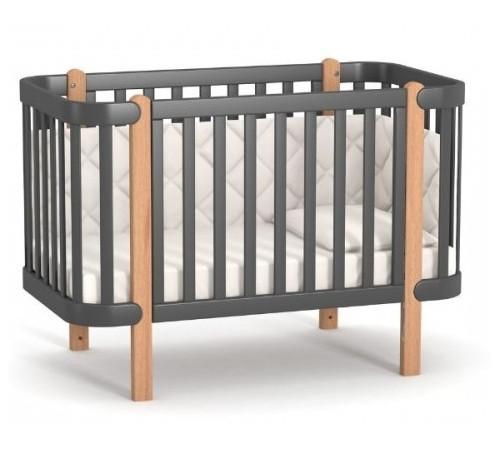 veres 05.3.1.21.16 Детская кроватка ЛД5 Монако (тёмно-серый)