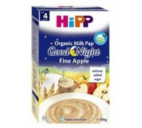 """hipp 2963 Молочная каша рисово-пшеничная с яблоками """"Спокойной Ночи"""" (4m+) 250 гр."""