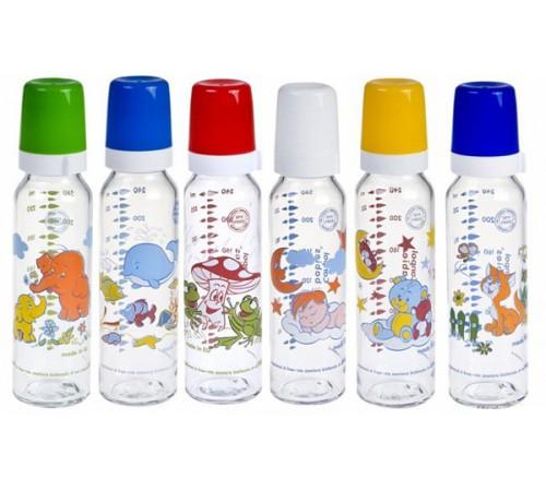 Детское питание в Молдове canpol 42/201 Стеклянная бутылочка с рисунком 240 мл. (12m+)