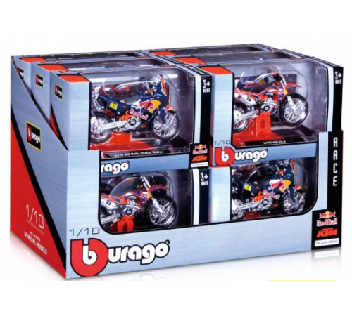 bburago 18-51073 Мотоцикл red bull cycle 1/18 в асс.
